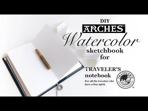 DIY Watercolor sketchbook for Midori