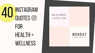Best instagram quotes (40 healthy and captions for holistic wellness, yoga mindfulness). looking your posts? in...