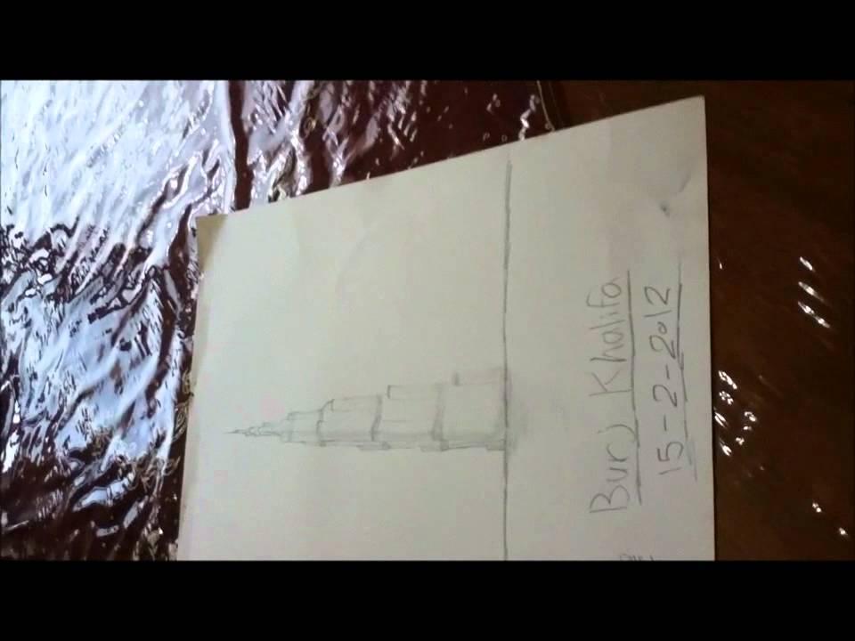 Drawing Burj Khalifa رسمة برج خليفة Youtube