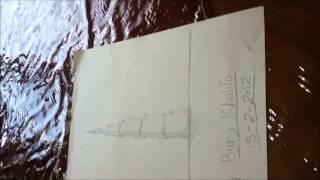 DRAWING BURJ KHALIFA رسمة برج خليفة