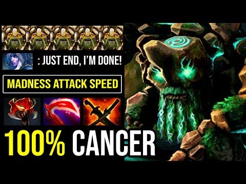 OMG 100% Deleted Drow & Puck in 1 Second - Madness Attack Speed Tiny MID 23Min GG 9000 MMR DotA 2