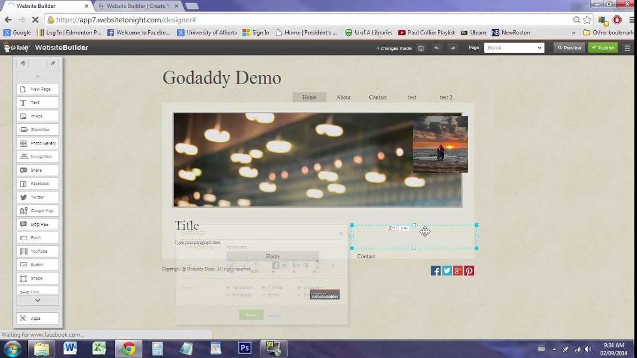 how to build a website on godaddy youtube
