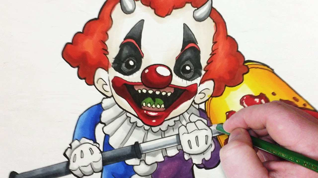Character Design Jazza : Character design session creepy clown child youtube
