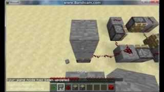 Minecraft snapshot 13w04a glitches: invisible block, dark redstone, and duplications (sort of)