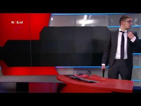 Gewapende man NOS Studio in Hilversum armed terrorist dutch journal telivision