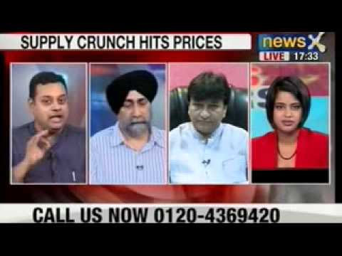 NewsX : Supply crunch hits onion prices