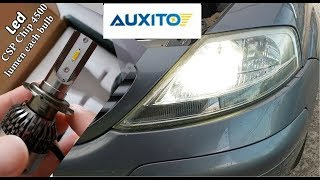 New LED HeadLight Bulbs H7 6000K , Review and Installation on Citroen