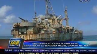 Pagtuligsa ng China sa minor repair sa BRP Sierra Madre sinagot ng AFP