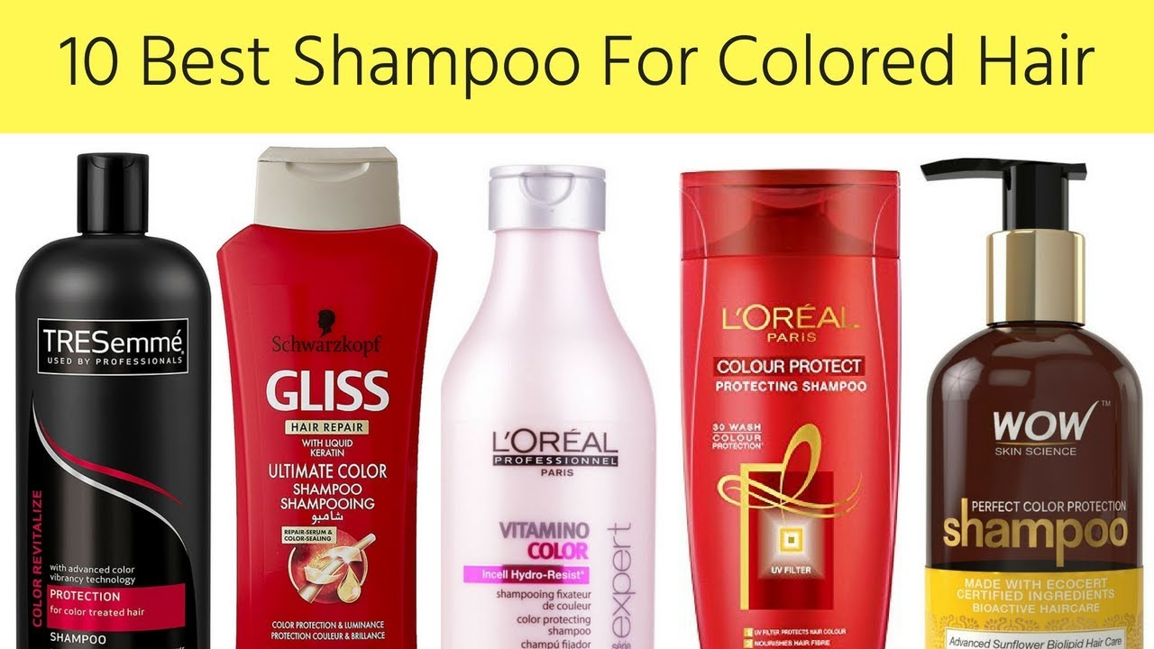 10 Best Shampoo For Colored Hair In India With Price I Shampoo For
