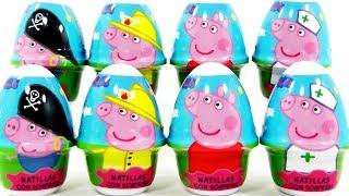 HUEVOS SORPRESA DE PEPPA PIG EN ESPAÑOL. Peppa Pig surprise eggs/ DIVER+