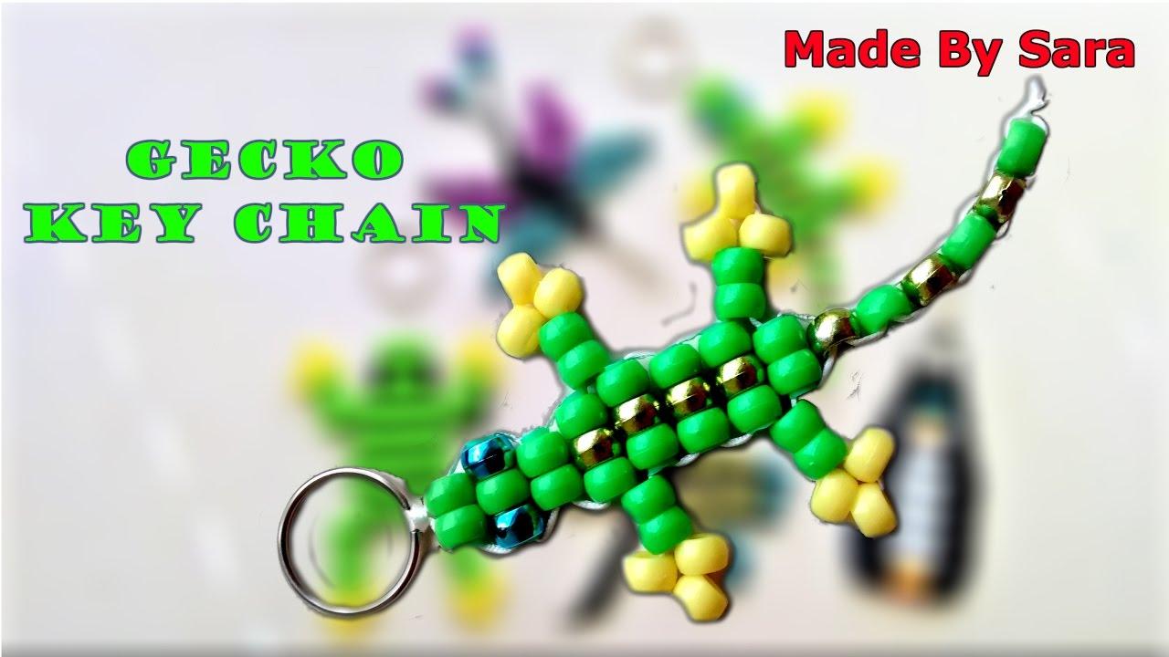Beads Gecko Key Chain - YouTube 05d3bff42