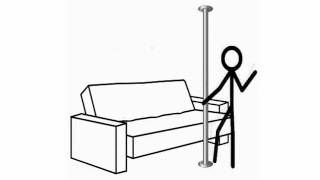 Medpole Vertical Transfer Pole No Wall Bar No Lift Chair Home Safety Tips.wmv