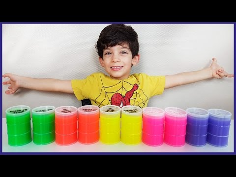 Learn Colors for Children, Toddlers and Babies with Slime