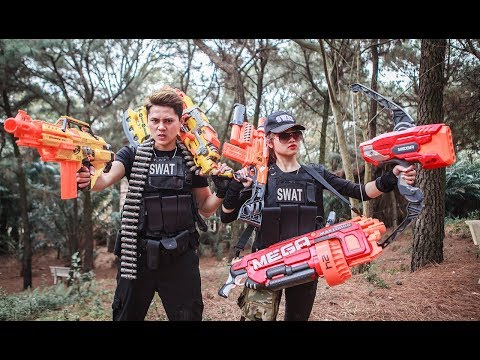 LTT Nerf War : Seal X use Skill Nerf Guns Fight Attack Criminal Group Rescue Friend
