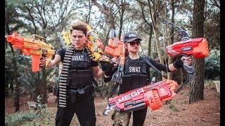 LTT Nerf War : Seal X use Skill Nerf Guns Fight Attack Criminal Group Rescue Friend