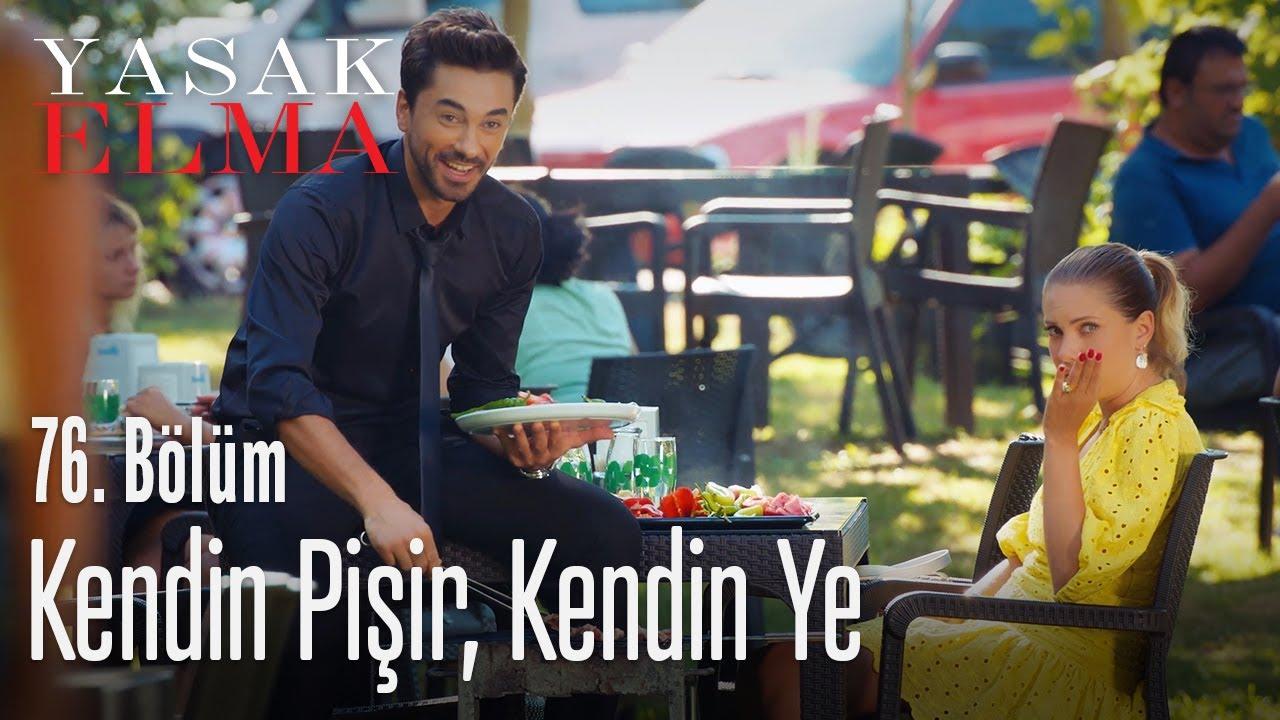 Yıldız ve Kerim mangal başında - Yasak Elma 76. Bölüm