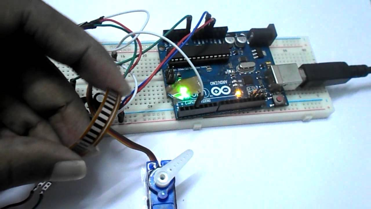Servo motor control by flex sensor using arduino uno youtube for How to control servo motor