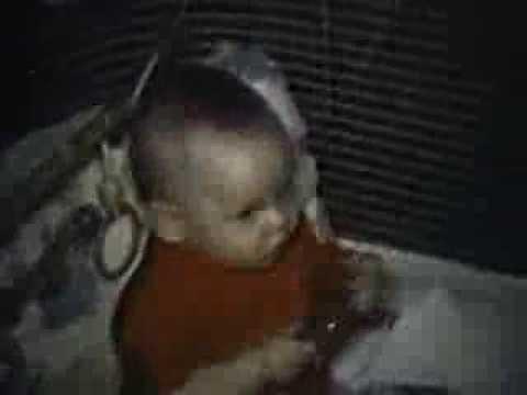 Home movie of John Earl Robinson as a baby