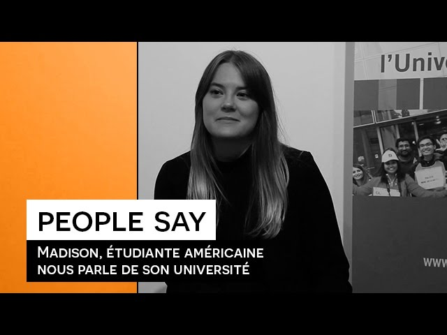 People Say - Madison, étudiante américaine