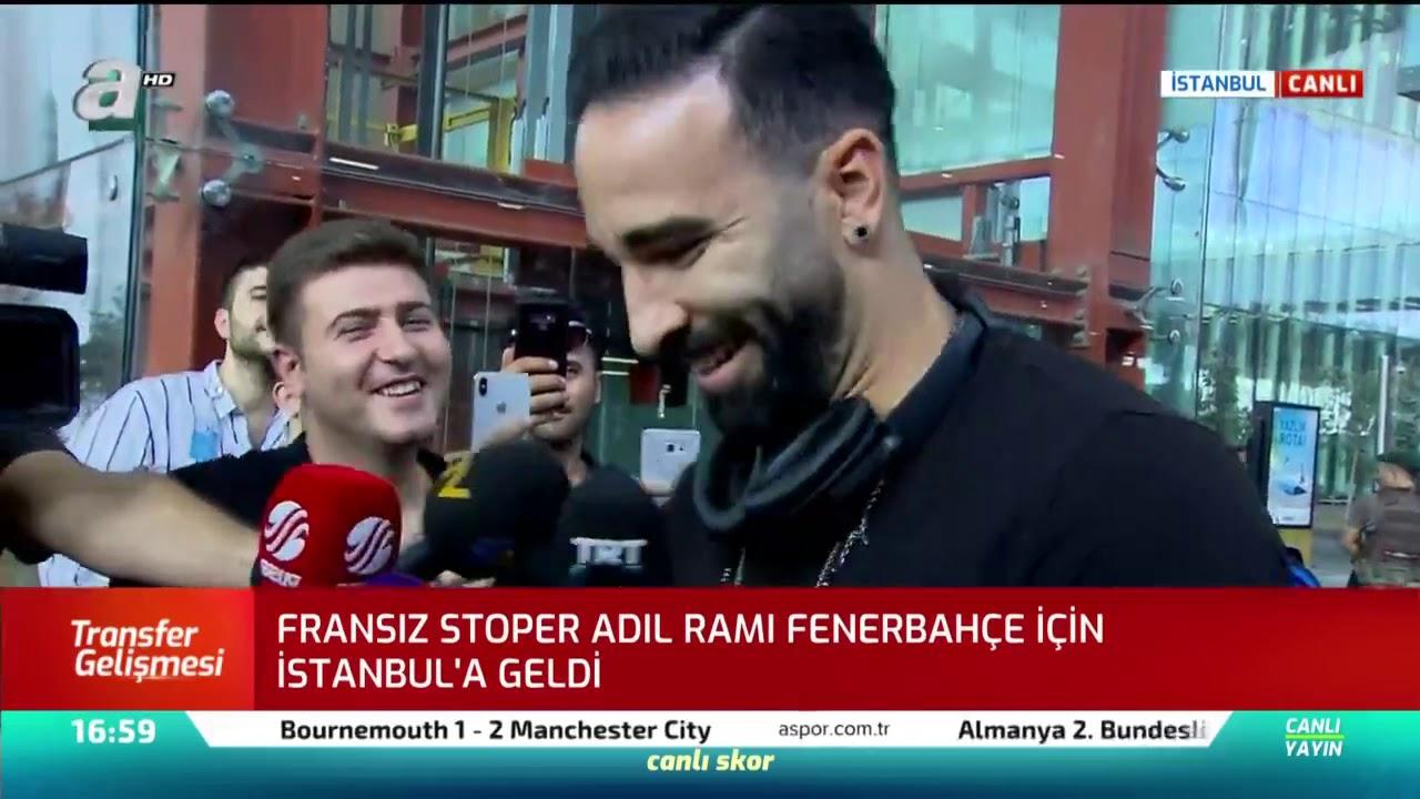 Fenerbahçe'nin yeni Fransız transferi Adil Rami, İstanbul'a geldi!