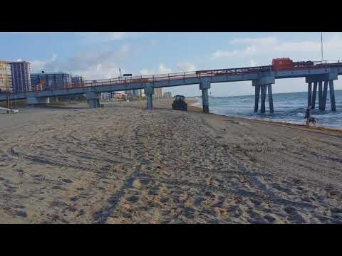 City of Pompano Beach Florida ,Beach Raker in Pompano Beach Florida
