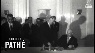 Soviet Arab Statement Signed In Moscow (1958)