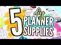 5 EASY DIY PLANNER SUPPLIES + About my Happy Planner | Back to School DIYs 2017