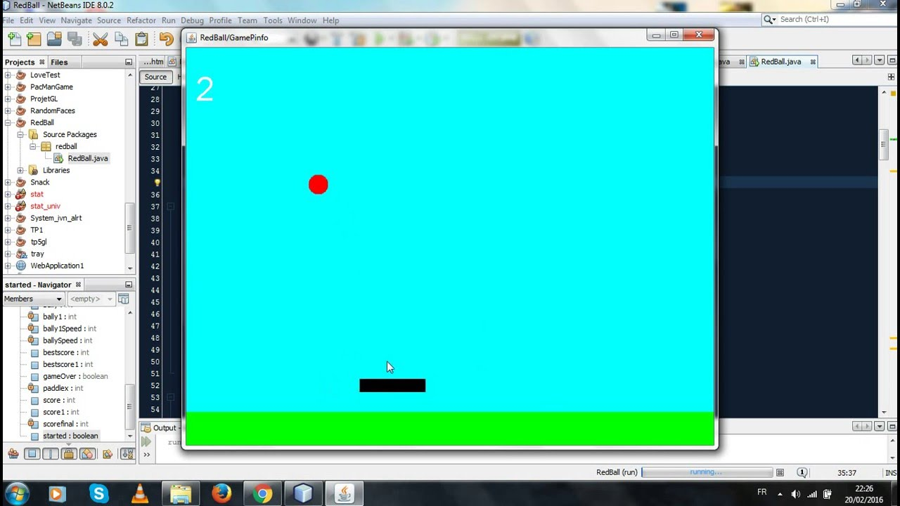 Simple 2d Game In Java Netbeans With Source Code Youtube