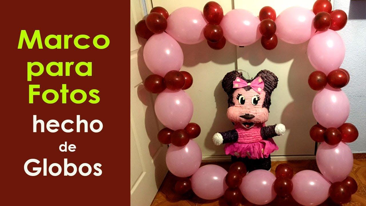 Marco para fotos de fiesta hecho de globos - YouTube