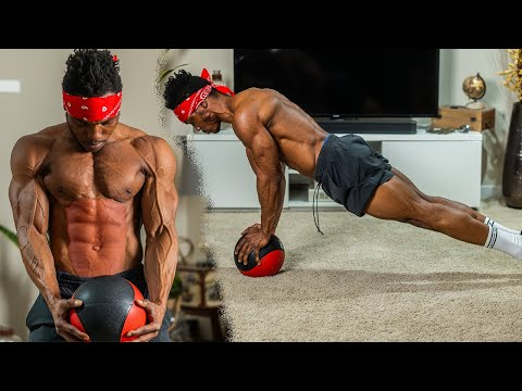 5 MINUTE Medicine Ball AB Workout you can do EVERYDAY!