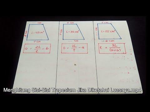 Menghitung Tinggi Trapesium - Panjang Sisi Atas dan Bawah Trapesium Jika Diketahui Luasnya