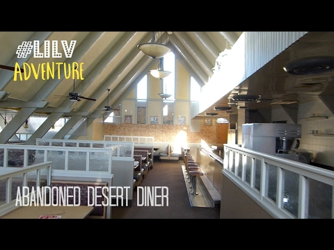 Abandoned Desert Diner - POWER WAS STILL ON!