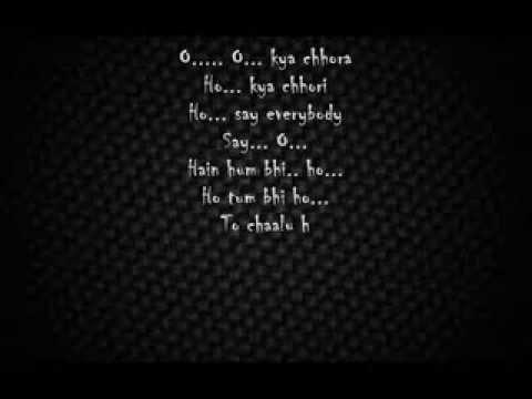 ABCD yo yo honey singh lyrics
