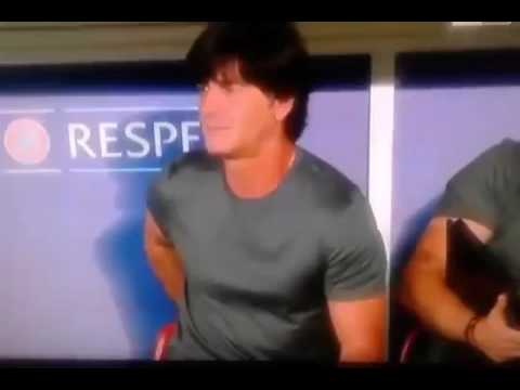 German Football Coach Joachim Loew smells his balls and picks his arse  EURO 2016
