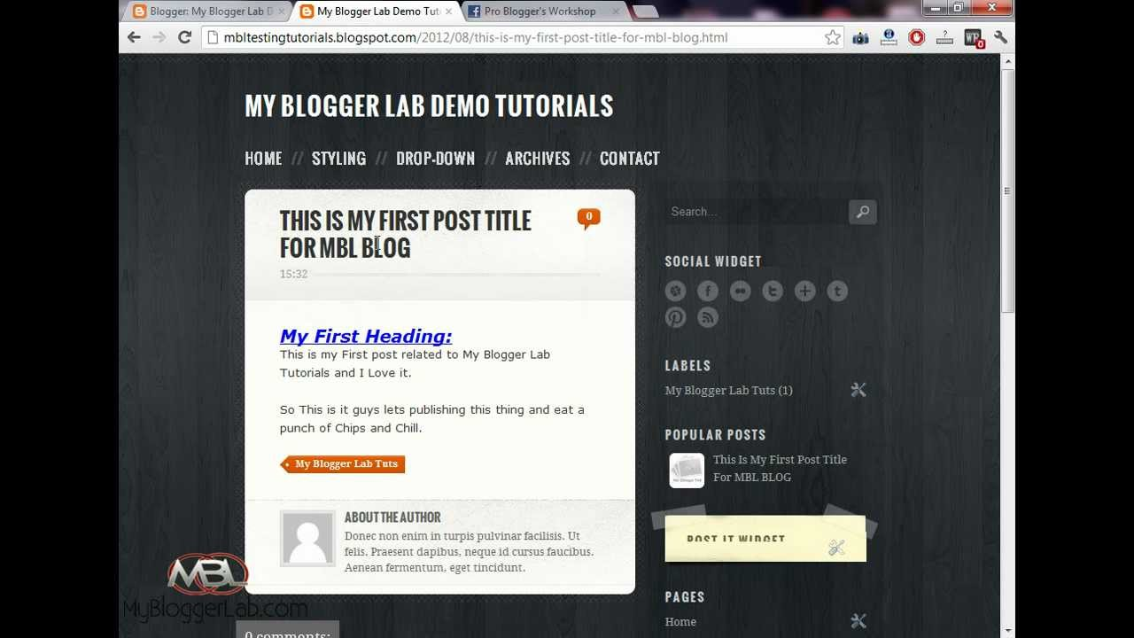 How To Change Theme/Template of BlogSpot Blog - Blogger Tutorials ...