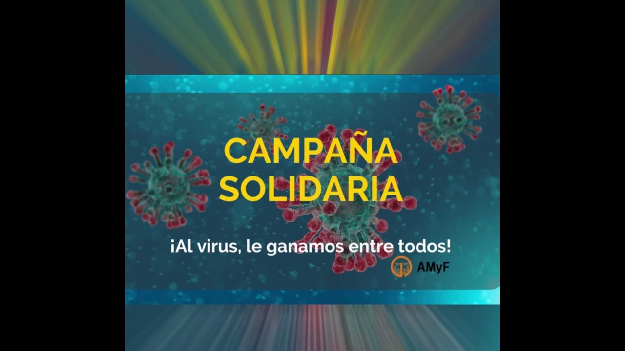 Campaña solidaria de AMyF para la lucha contra el Covid-19