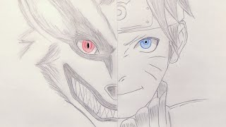Speed Drawing - Naruto and Kurama (Nine Tails) Drawing [HD]