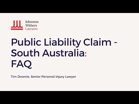 Public Liability Claims. Frequently Asked Questions. Senior Lawyer, Tim Downie 2019