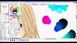 Anime speed painting on Paint Tool Sai ♥