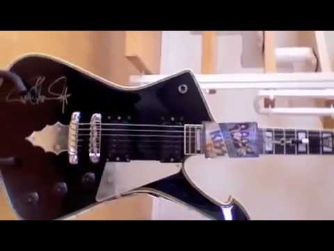 kiss ibanez paul stanley ps 10 limited reissue ic1000bk 20th anniversary iceman guitar youtube. Black Bedroom Furniture Sets. Home Design Ideas