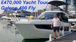 £470,000 Yacht Tour : Galeon 400 Fly