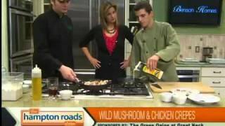 Wild Mushroom & Chicken Marsala Crepes