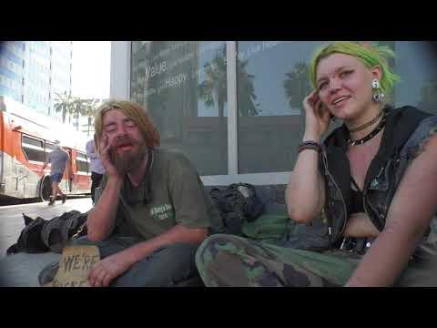 Homeless on Hollywood Blvd.