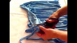 как сделать пряжу из майки без узелков