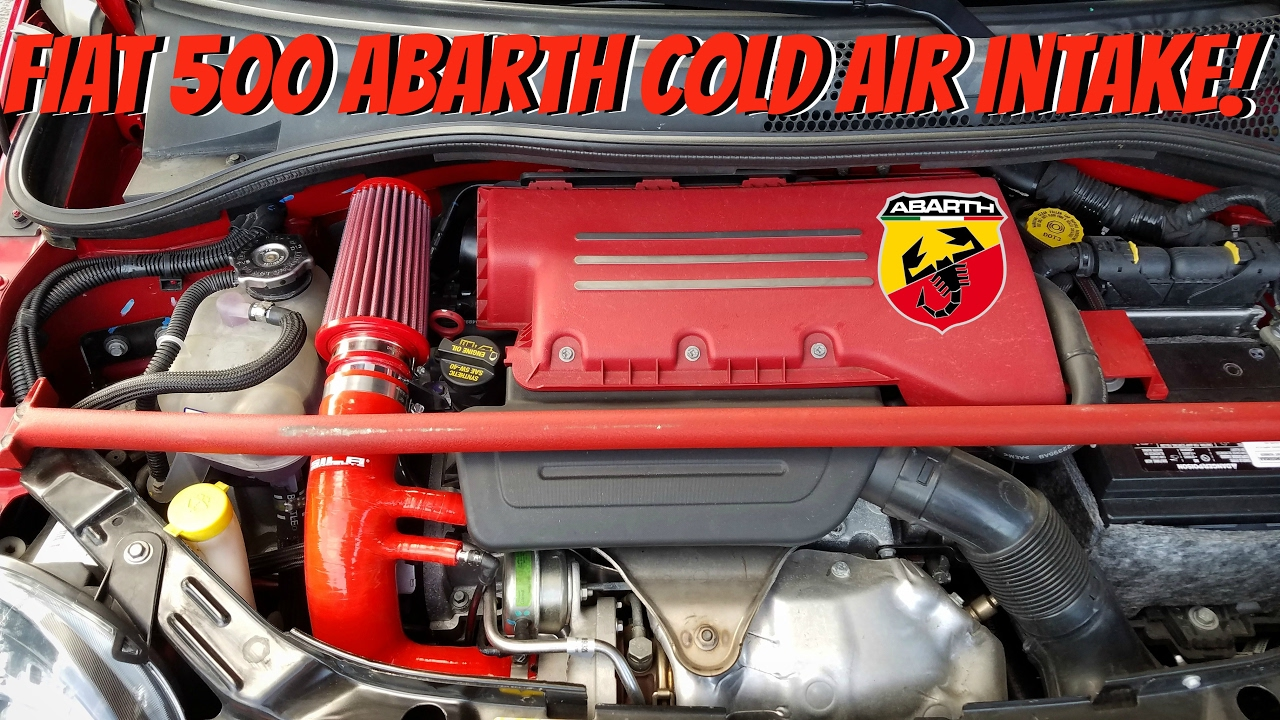 fiat 500 abarth sila concepts cold air intake (before & after