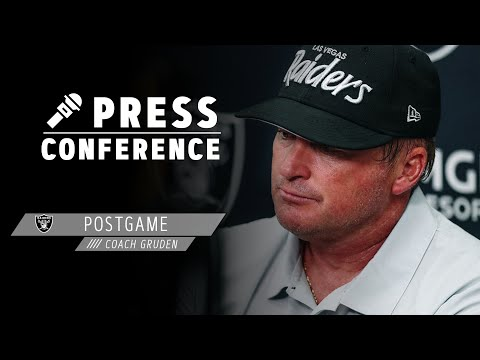 Coach Gruden Recaps Week 1 Win Over the Panthers