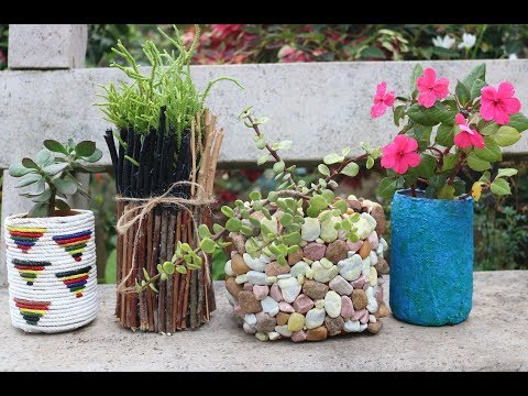 4 Amazing planter ideas from waste plastic bottles /unique planter ideas /DIY Plant pots