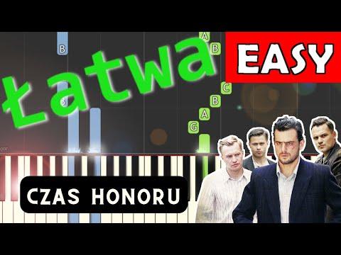 """🎹 Polonez z serialu """"Czas Honoru"""" (B. Chajdecki) - Piano Tutorial (łatwa wersja) 🎹"""