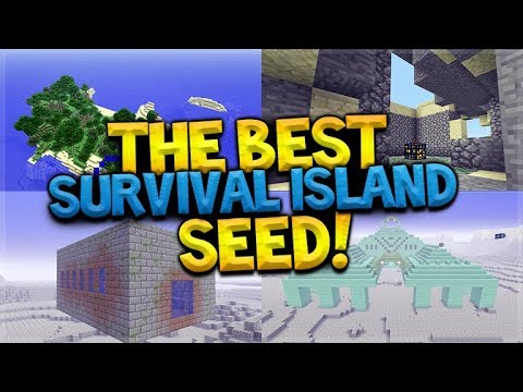 6 Temples, Above Ground Spawner, Above Ground End Portal Survival Island SEED AT SPAWN!