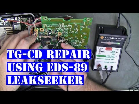 TG-CD dock repair using LeakSeeker EDS-89 TG-16 TruboGrafx16
